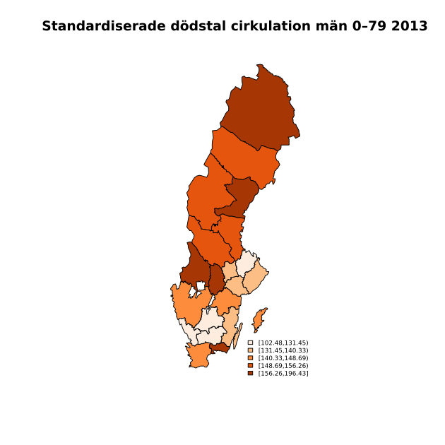 Standardiserade cirkulationsdödstal män 0--79